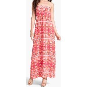 Joie women XS Ruma 100% silk blouson maxi dress